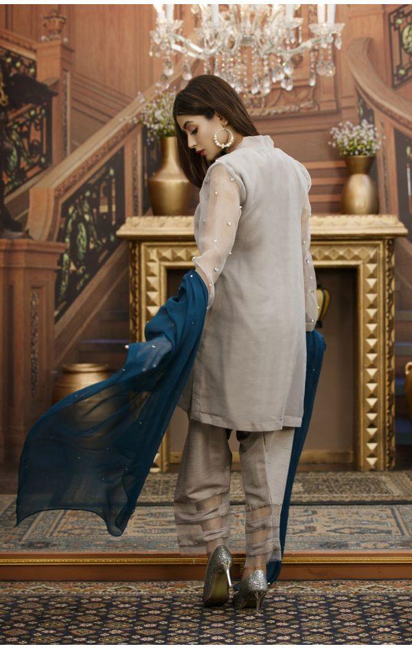 Buy Exclusive Grey Partywear – Sds93 Online In USA, Uk & Pakistan - 01
