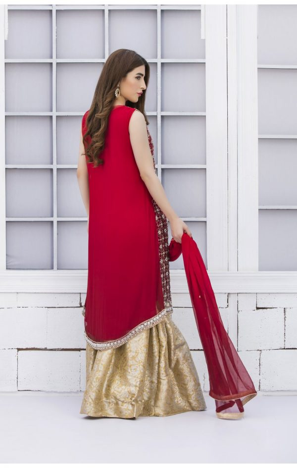 Buy Exclusive Red And Golden Bridal Wear – G15042 Online In USA, Uk & Pakistan - 01