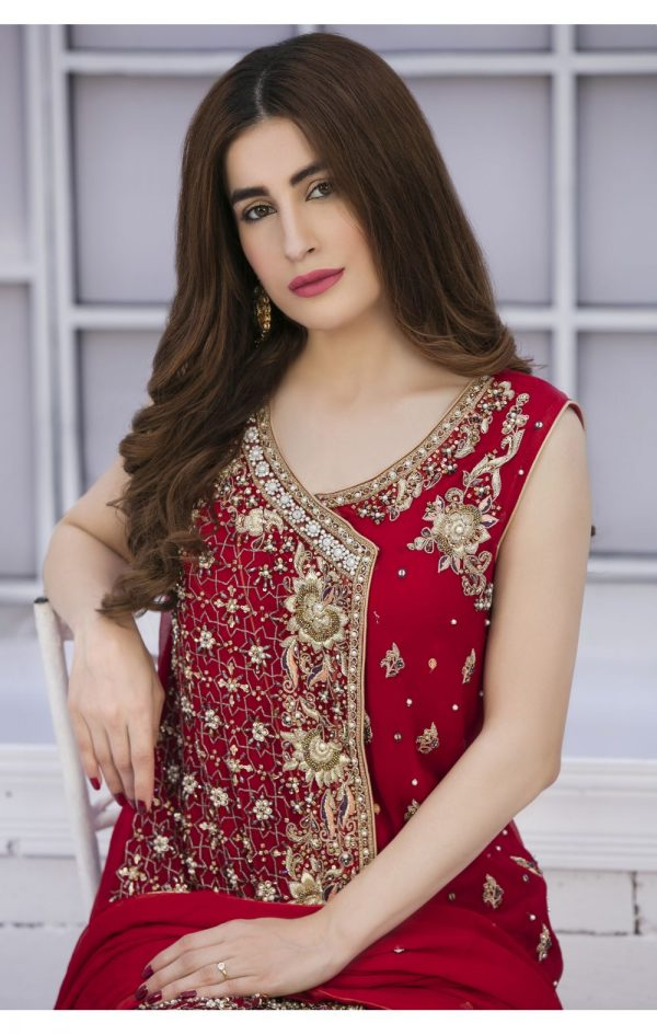 Buy Exclusive Red And Golden Bridal Wear – G15042 Online In USA, Uk & Pakistan - 03