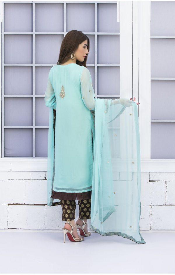 Buy Exclusive Light Ferozi Bridal Wear – G15663A Online In USA, Uk & Pakistan