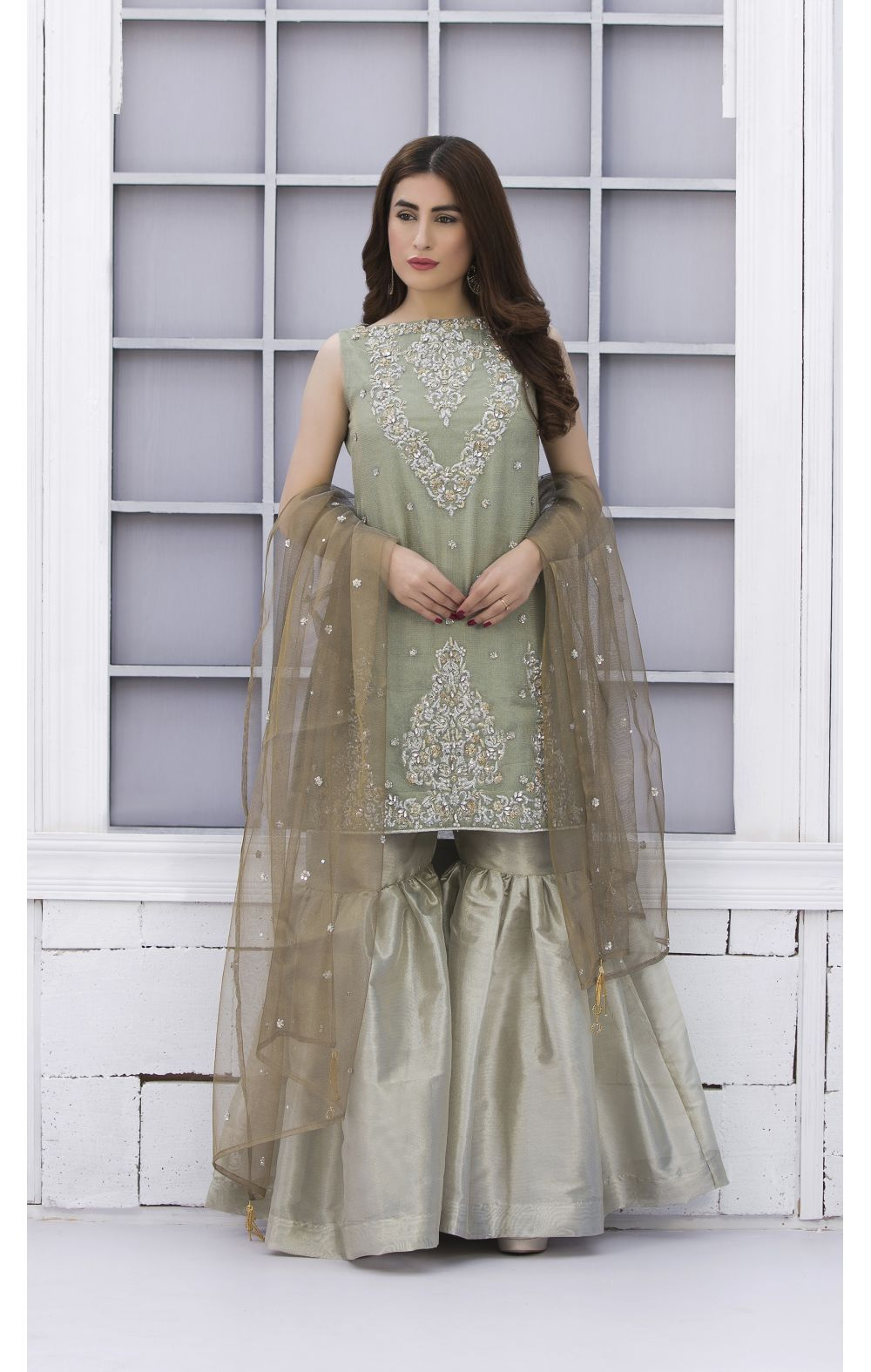4b1456da62 EXCLUSIVE PISTA GREEN AND DULL GOLD BRIDAL WEAR - SDBD02 - Exclusive ...