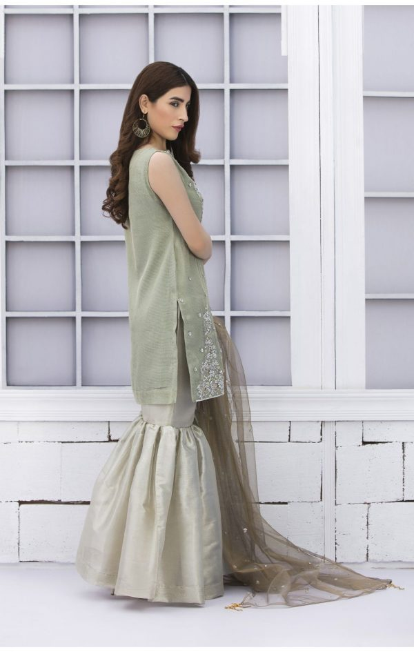 Buy Exclusive Pista Green And Dull Gold Bridal Wear – Sdbd02 Online In USA, Uk & Pakistan - 02