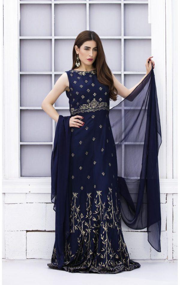 Blue Khaadi Dress