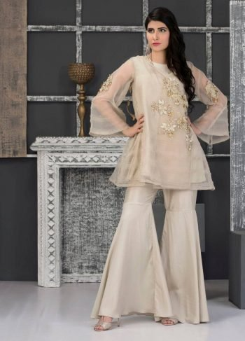 Buy Beige Party Wear – Sacs2337 Online In USA, Uk & Pakistan