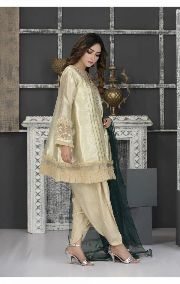 Golden Casual Dress