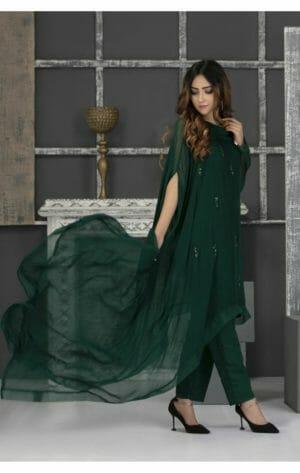 Green Pakistani Dress
