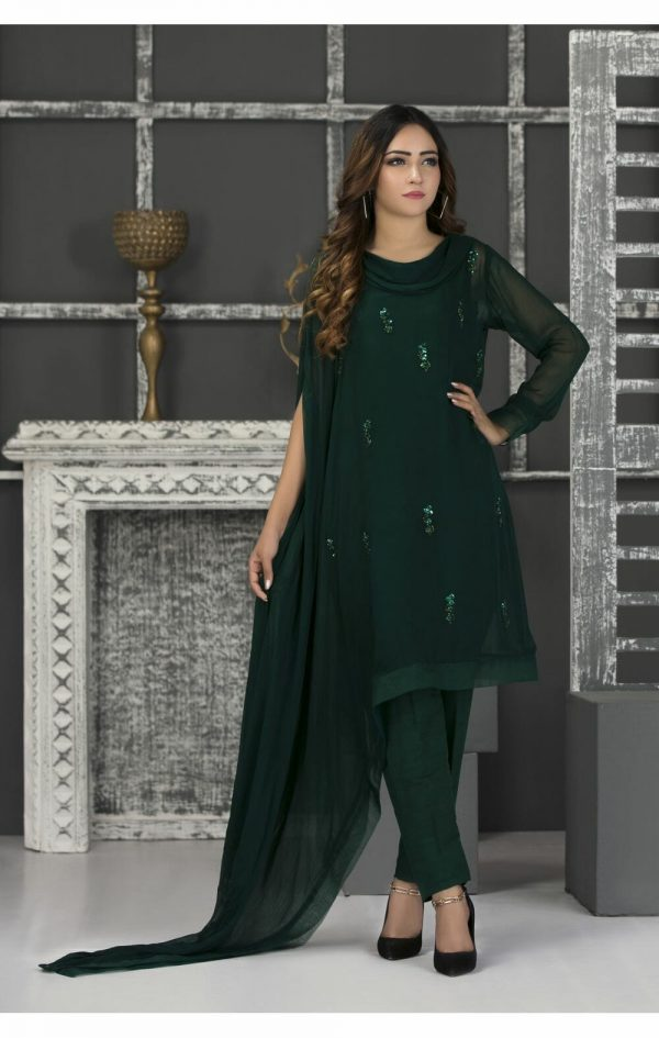 Green Pakistani Dress