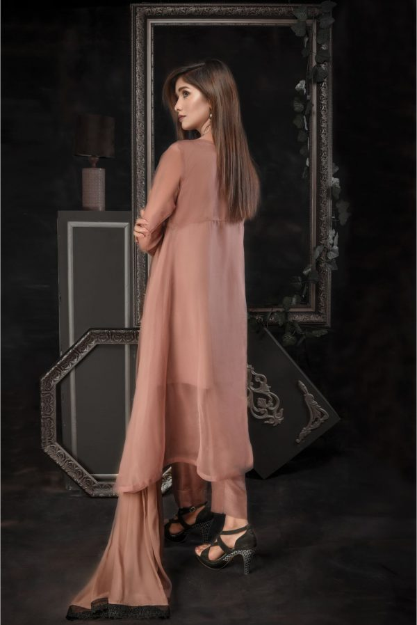 Buy Exclusive Dark Beige Luxury Pret – Aqs73 Online In USA, Uk & Pakistan - 01