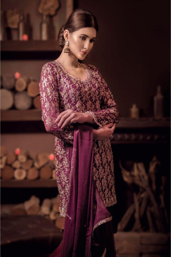Buy Exclusive Plum Bridal Wear – Sabd211 Online In USA, Uk & Pakistan
