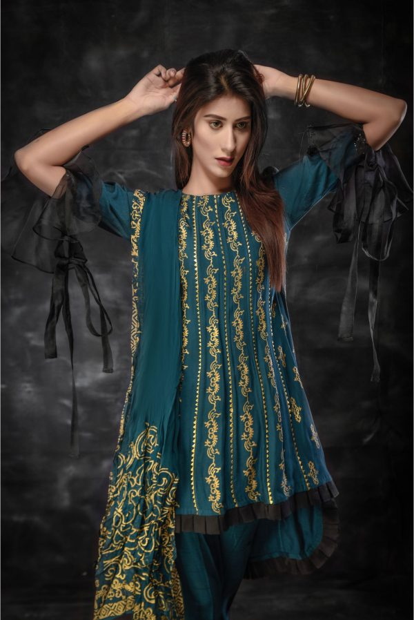 Pakistani Blue Dress