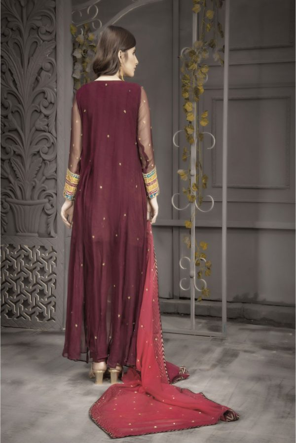 Buy Exclusive Plum And Pink Bridal Wear – Aqbd04 Online In USA, Uk & Pakistan - 04