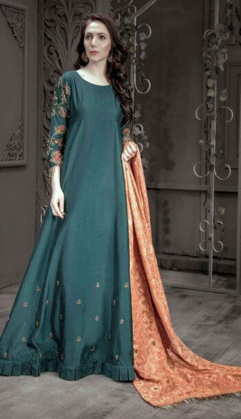 Buy Exclusive Teal Bridal Wear- Aqbd07 Online In USA, Uk & Pakistan