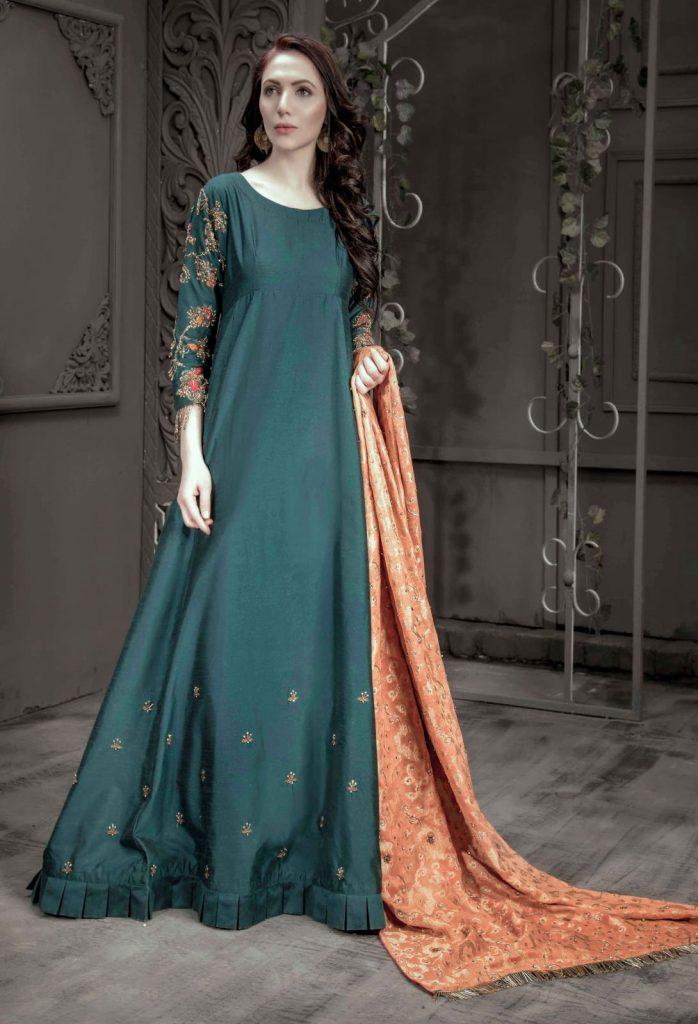 Buy Exclusive Teal Bridal Wear- Aqbd07 Online In USA, Uk & Pakistan