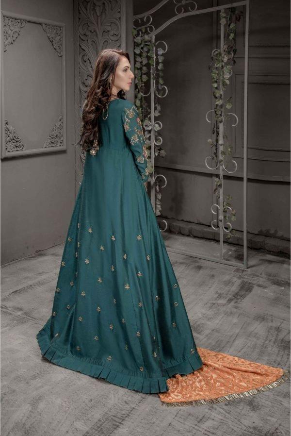 Buy Exclusive Teal Bridal Wear- Aqbd07 Online In USA, Uk & Pakistan - 02