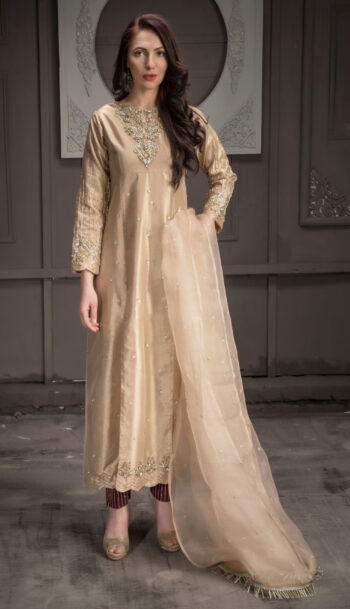 Buy Exclusive Rose Gold Bridal Wear – Aqbd08 Online In USA, Uk & Pakistan