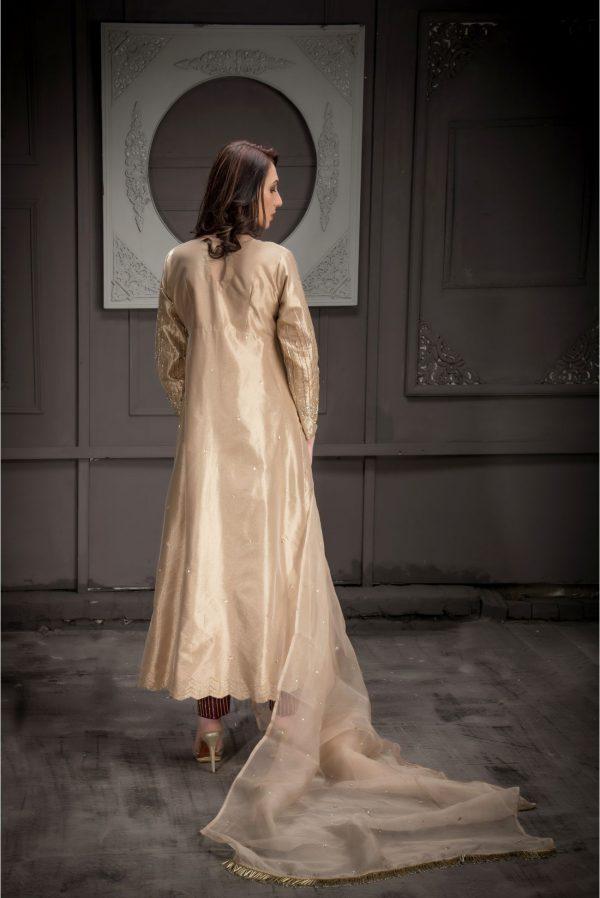 Buy Exclusive Rose Gold Bridal Wear – Aqbd08 Online In USA, Uk & Pakistan - 03