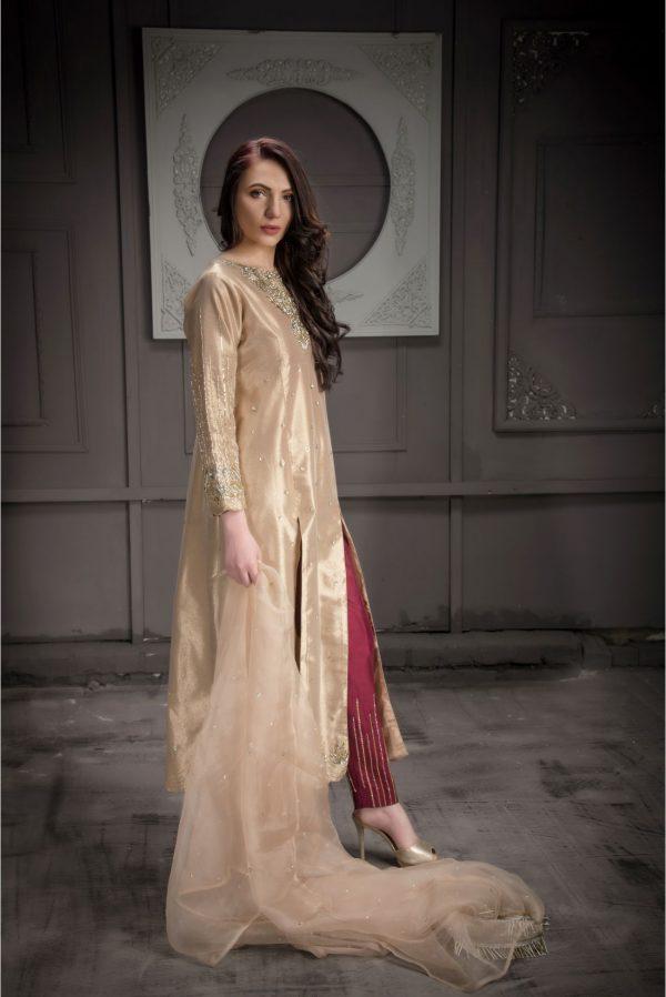 Buy Exclusive Rose Gold Bridal Wear – Aqbd08 Online In USA, Uk & Pakistan - 02