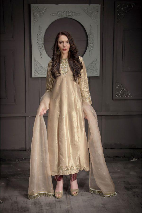 Buy Exclusive Rose Gold Bridal Wear – Aqbd08 Online In USA, Uk & Pakistan - 01