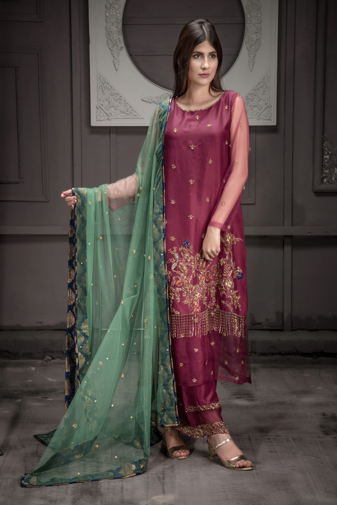Buy Exclusive Malaga Bridal Wear – Aqbd12 Online In USA, Uk & Pakistan