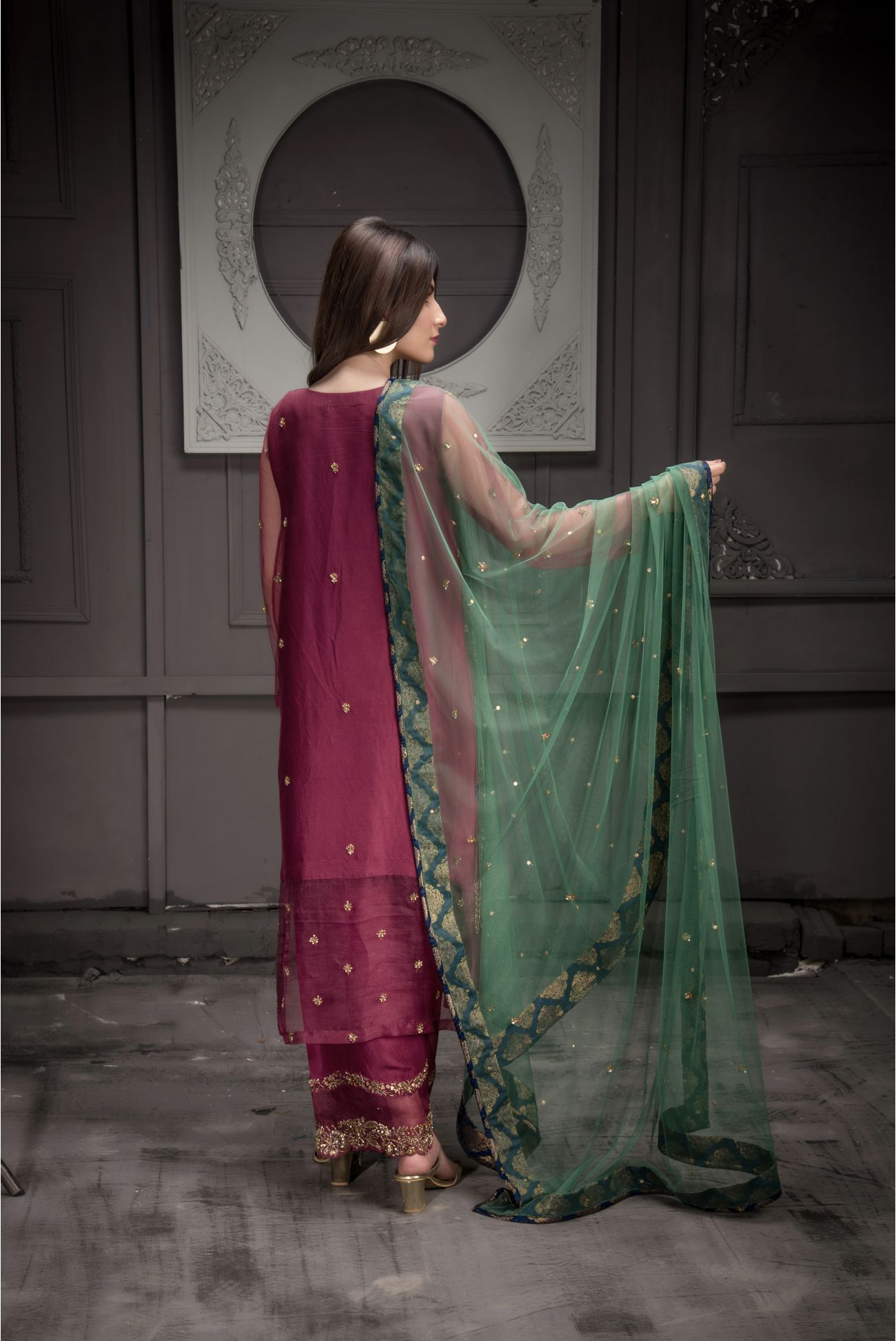 Buy Exclusive Malaga Bridal Wear – Aqbd12 Online In USA, Uk & Pakistan - 03