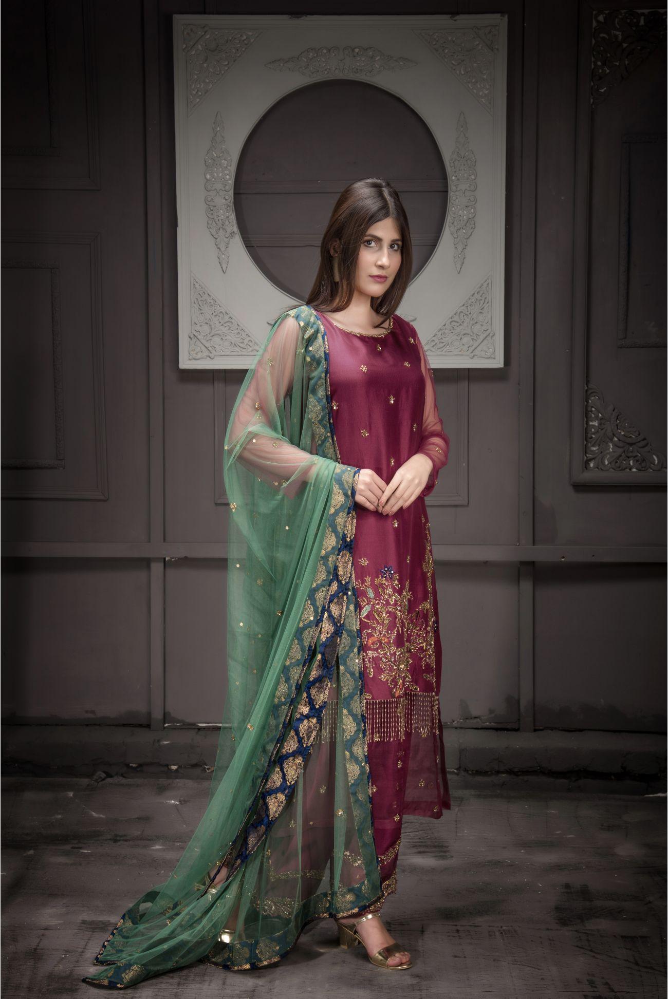 Buy Exclusive Malaga Bridal Wear – Aqbd12 Online In USA, Uk & Pakistan - 02