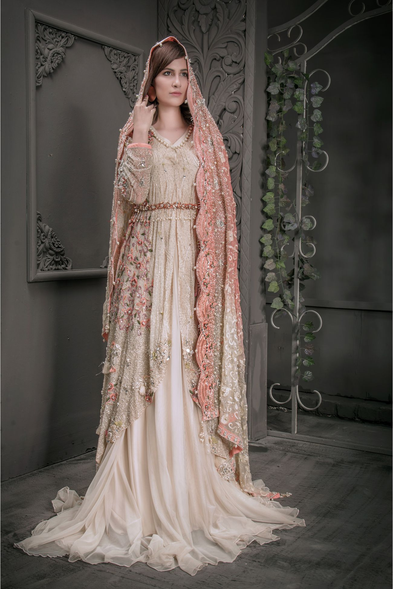 Buy Exclusive Fone And Peach Shadi And Valima – Sabd205 Online In USA, Uk & Pakistan - 02