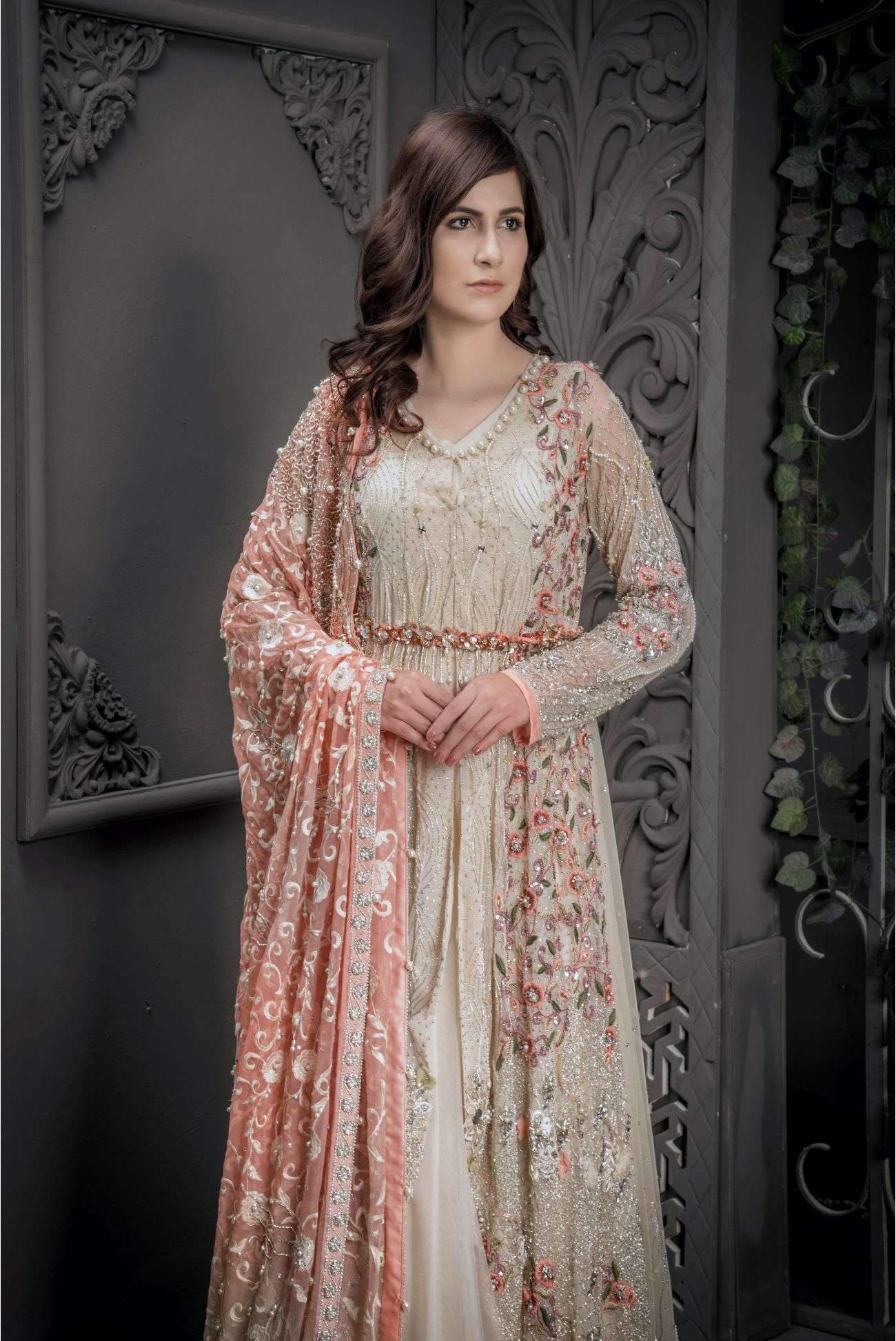 Buy Exclusive Fone And Peach Shadi And Valima – Sabd205 Online In USA, Uk & Pakistan - 01