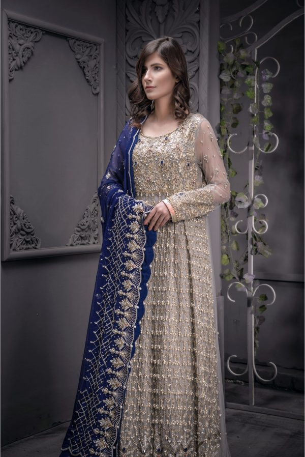 Buy Exclusive Grey And Blue Shadi And Valima – Sabd207 Online In USA, Uk & Pakistan - 02