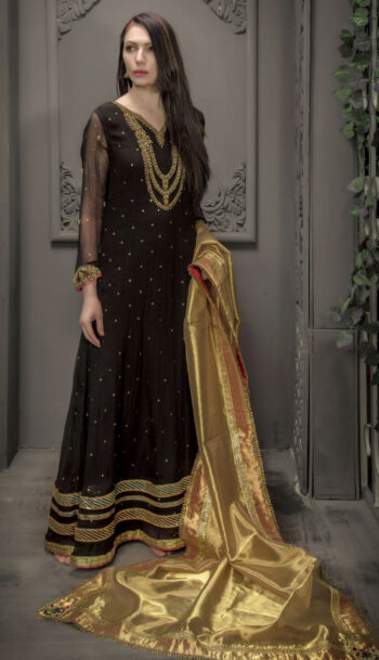 Buy Exclusive Black Bridal Wear – Sdbd21 Online In USA, Uk & Pakistan