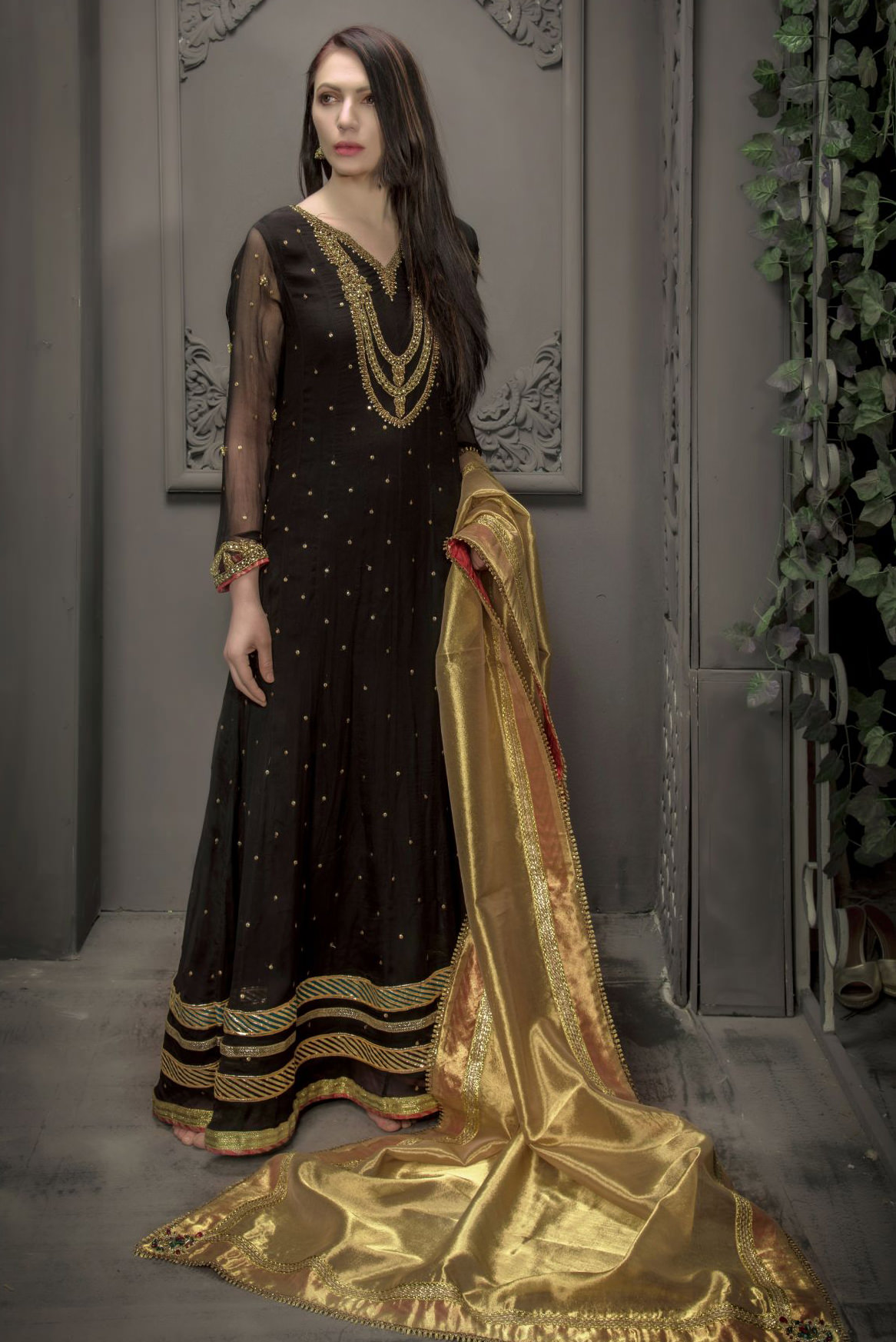 Buy Exclusive Black Bridal Wear – Sdbd21 Online In USA, Uk & Pakistan