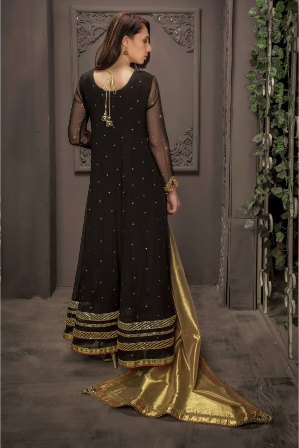 Buy Exclusive Black Bridal Wear – Sdbd21 Online In USA, Uk & Pakistan - 03