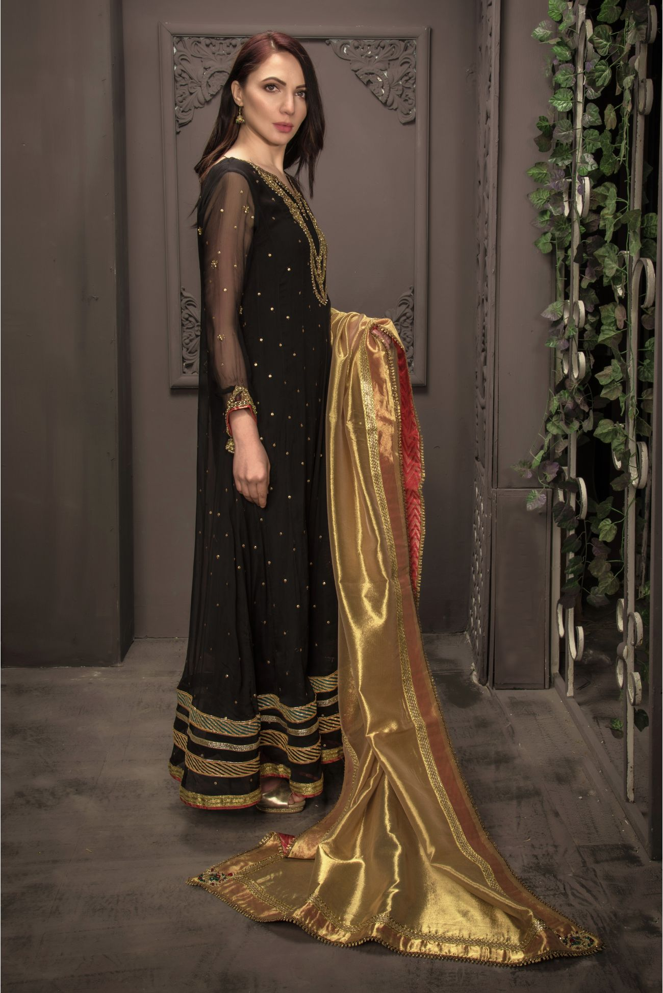 Buy Exclusive Black Bridal Wear – Sdbd21 Online In USA, Uk & Pakistan - 02