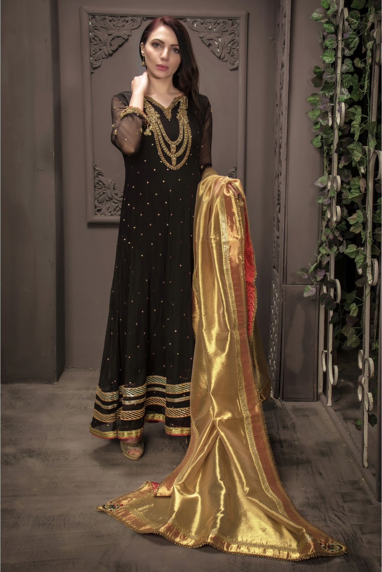 Buy Exclusive Black Bridal Wear – Sdbd21 Online In USA, Uk & Pakistan - 01
