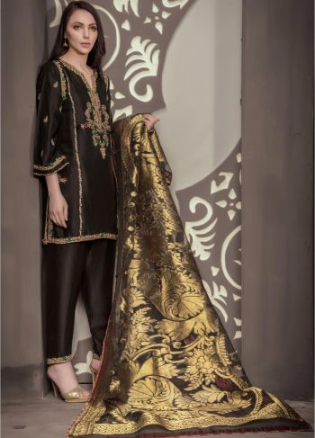 Buy Exclusive Black Bridal Wear – Sdbd28 Online In USA, Uk & Pakistan