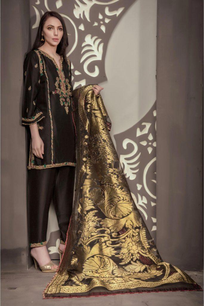 Buy Exclusive Black Bridal Wear – Sdbd28 Online In USA, Uk & Pakistan