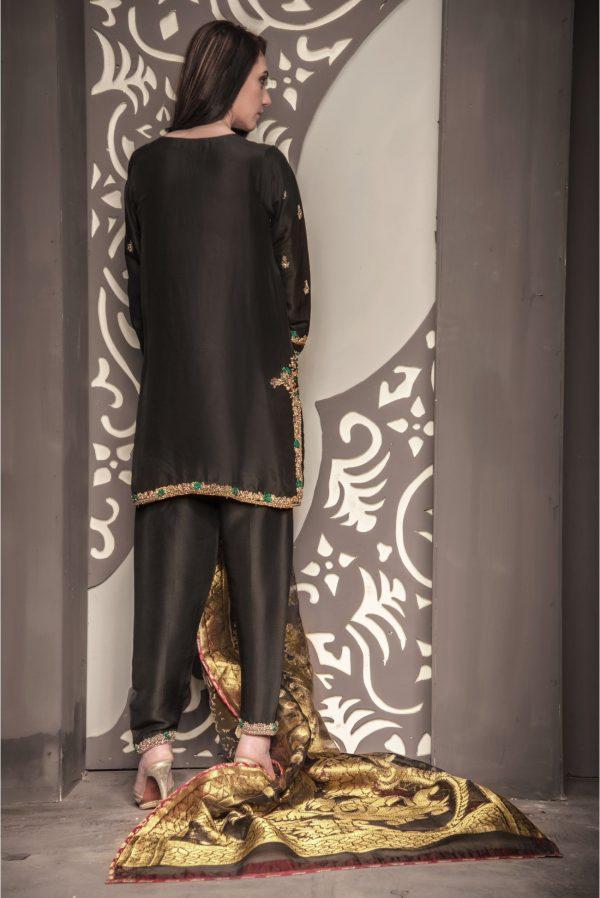 Buy Exclusive Black Bridal Wear – Sdbd28 Online In USA, Uk & Pakistan - 03