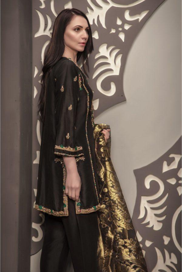 Buy Exclusive Black Bridal Wear – Sdbd28 Online In USA, Uk & Pakistan - 02