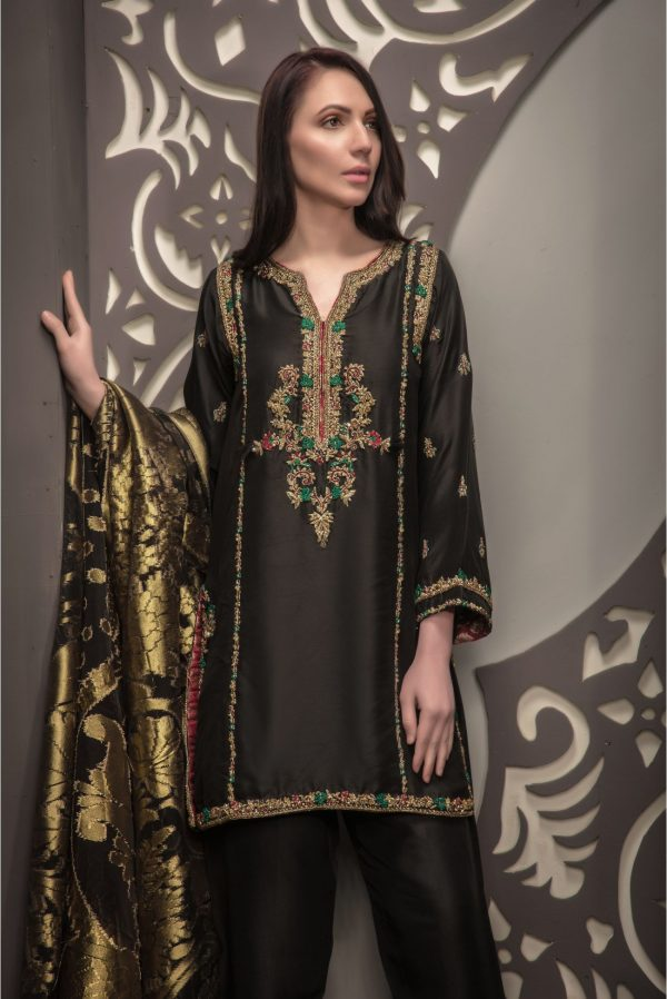 Buy Exclusive Black Bridal Wear – Sdbd28 Online In USA, Uk & Pakistan - 01