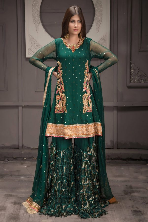 Buy Exclusive Green Bridal Wear – Sdbd32 Online In USA, Uk & Pakistan