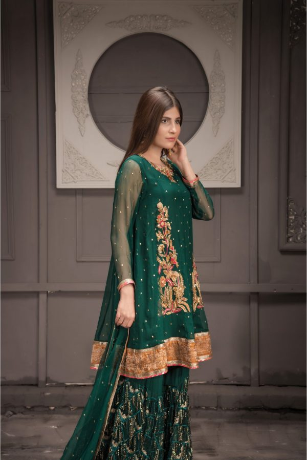 Buy Exclusive Green Bridal Wear – Sdbd32 Online In USA, Uk & Pakistan - 02