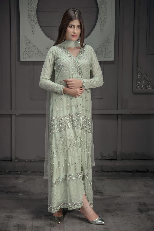 Buy Exclusive Mint Green Bridal Wear – Zbd15 Online In USA, Uk & Pakistan