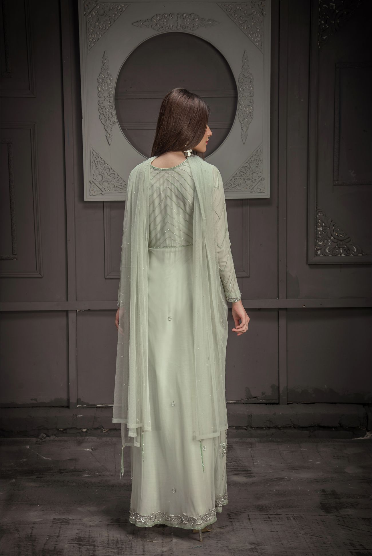 Buy Exclusive Mint Green Bridal Wear – Zbd15 Online In USA, Uk & Pakistan - 03