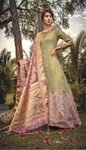 Buy Exclusive Pistachiu Green Bridal Wear – Aqbd11 Online In USA, Uk & Pakistan