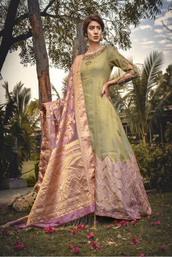 Buy Exclusive Pistachiu Green Bridal Wear – Aqbd11 Online In USA, Uk & Pakistan