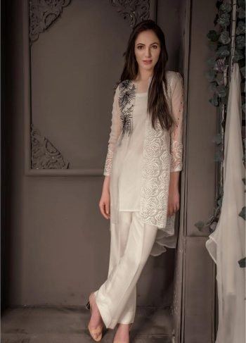 Buy Exclusive Ivory Party Wear – Aqs87 Online In USA, Uk & Pakistan - 03