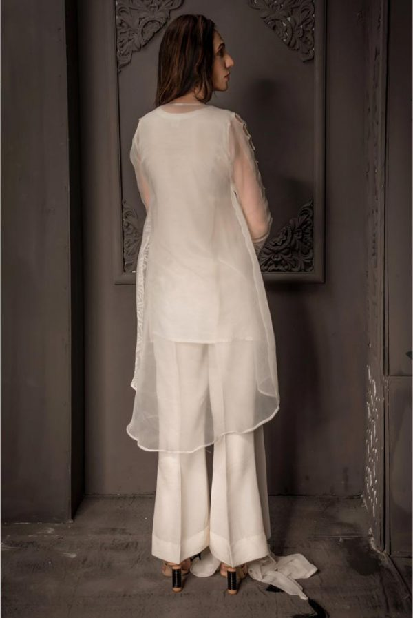 Buy Exclusive Ivory Party Wear – Aqs87 Online In USA, Uk & Pakistan - 02