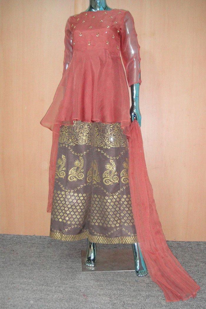 Buy Exclusive Desert Sand Partywear – Aqs93 Online In USA, Uk & Pakistan - 04