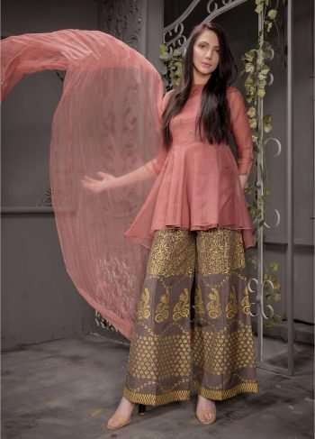 Buy Exclusive Desert Sand Partywear – Aqs93 Online In USA, Uk & Pakistan - 02