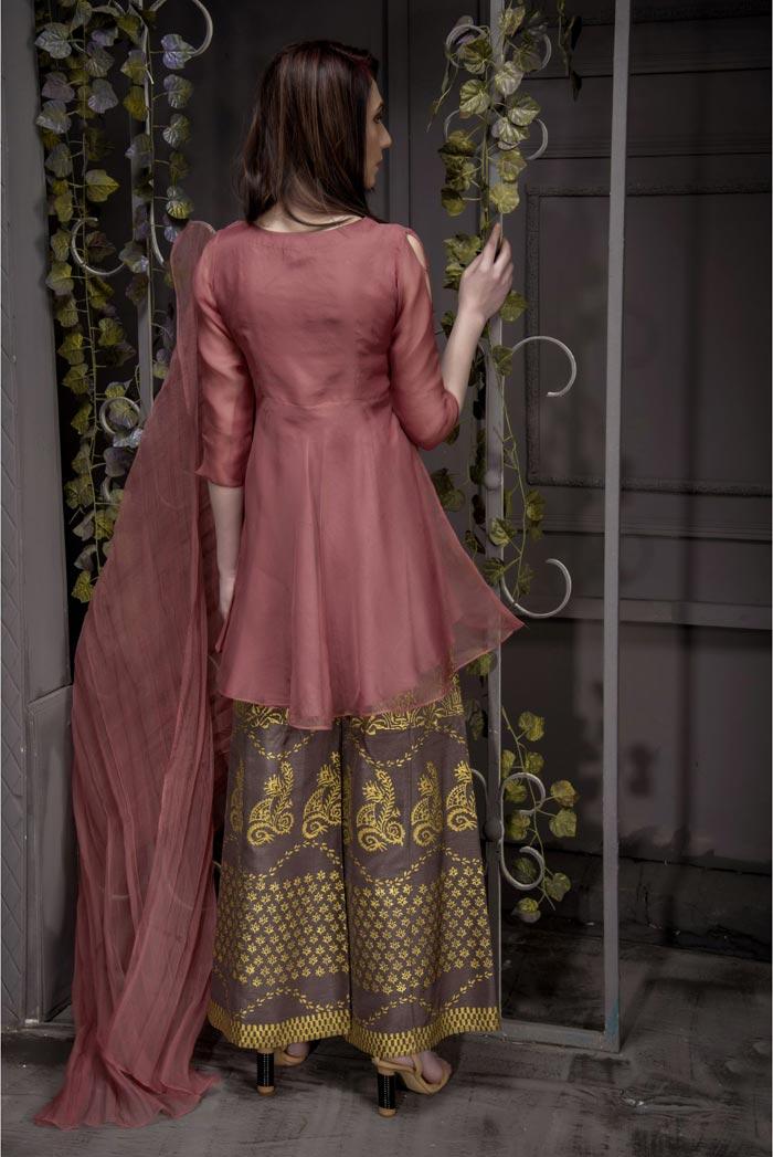 Buy Exclusive Desert Sand Partywear – Aqs93 Online In USA, Uk & Pakistan - 03