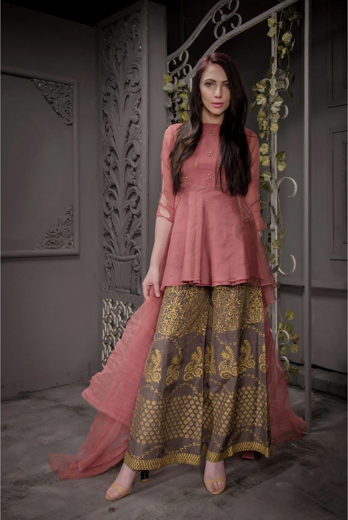 Buy Exclusive Desert Sand Partywear – Aqs93 Online In USA, Uk & Pakistan - 01